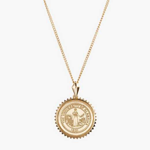 AL0116: Cavan Gold Alabama Sunburst Necklace by KYLE CAVAN